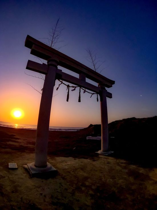 Sunset Silhouette Sun Dusk Nature Sky No People Scenics Outdoors Landscape Beauty In Nature Day Japan Shrine Of Japan Torii Gate