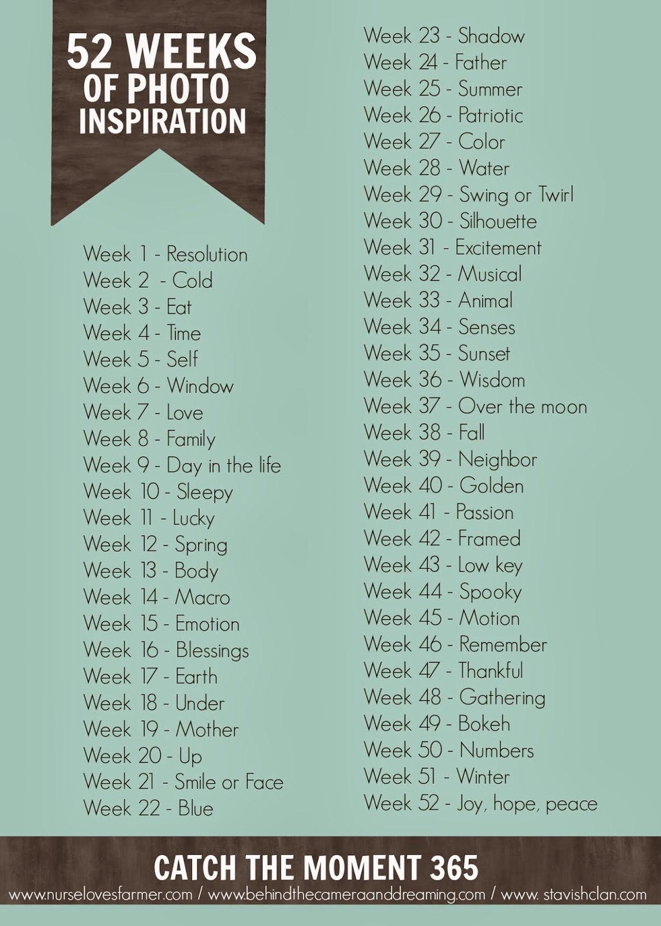 52 Week Challenge