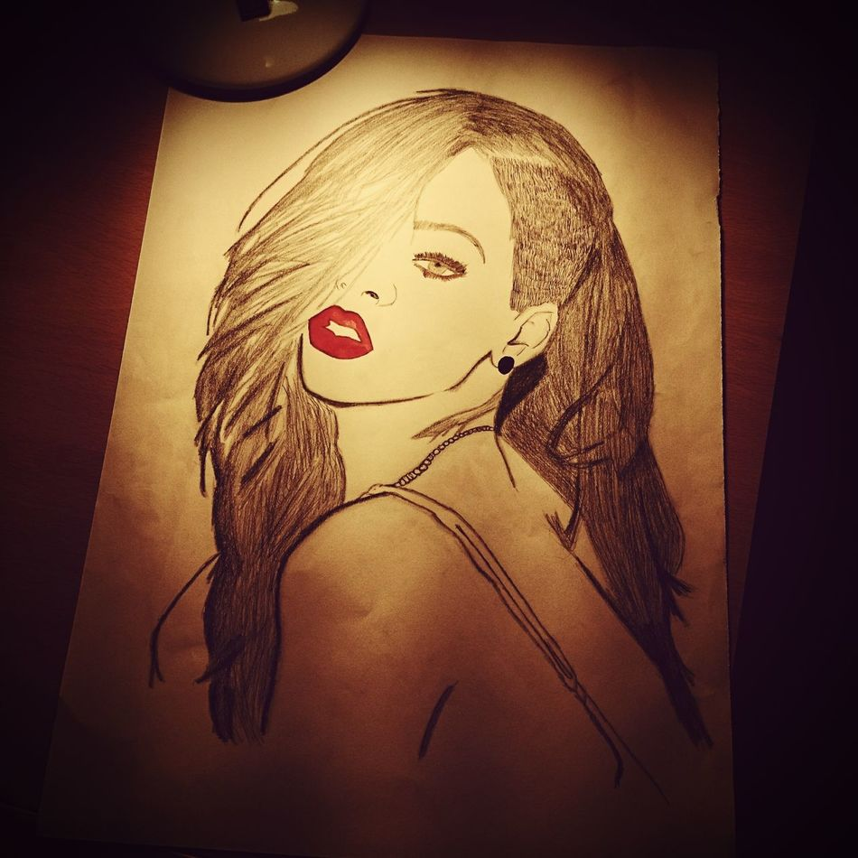 Nothing to say... Sister's drawing Rihanna Woman B Sexygirl Love Best  Art Is Everywhere