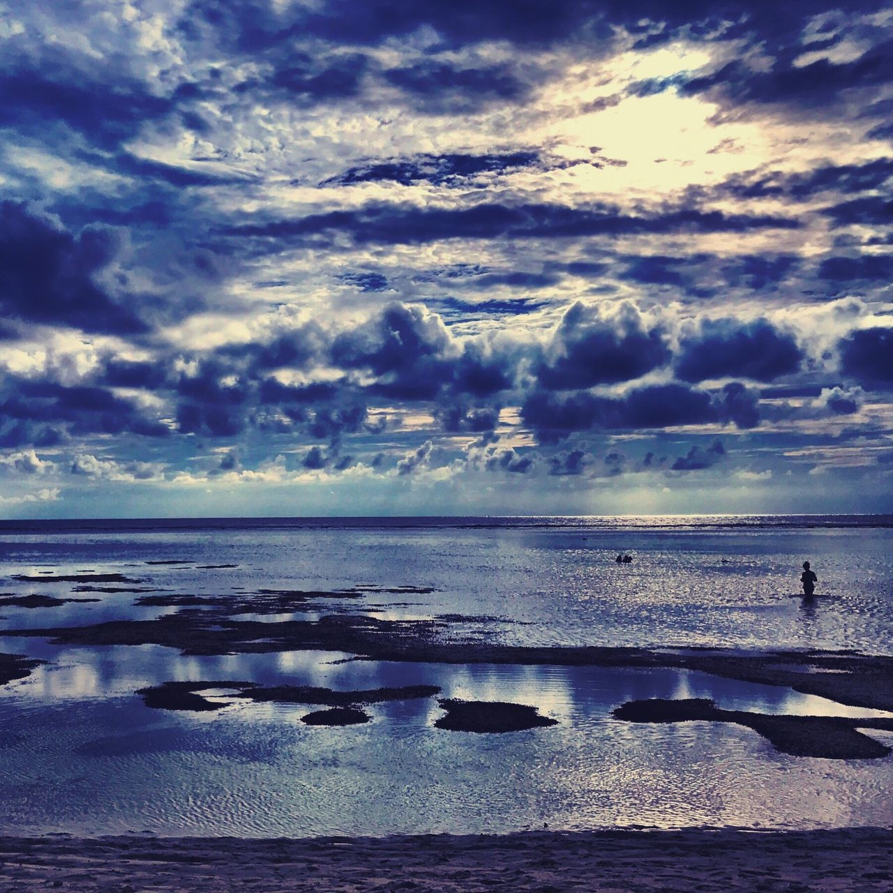Cloudy seascape Sea Scenics Water Beauty In Nature Sky Cloud - Sky Nature Tranquil Scene Horizon Over Water Tranquility Idyllic Beach Outdoors No People Day