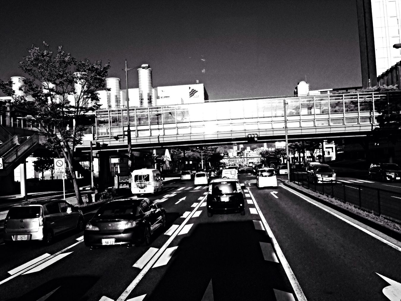 Monochrome Black And White On The Road