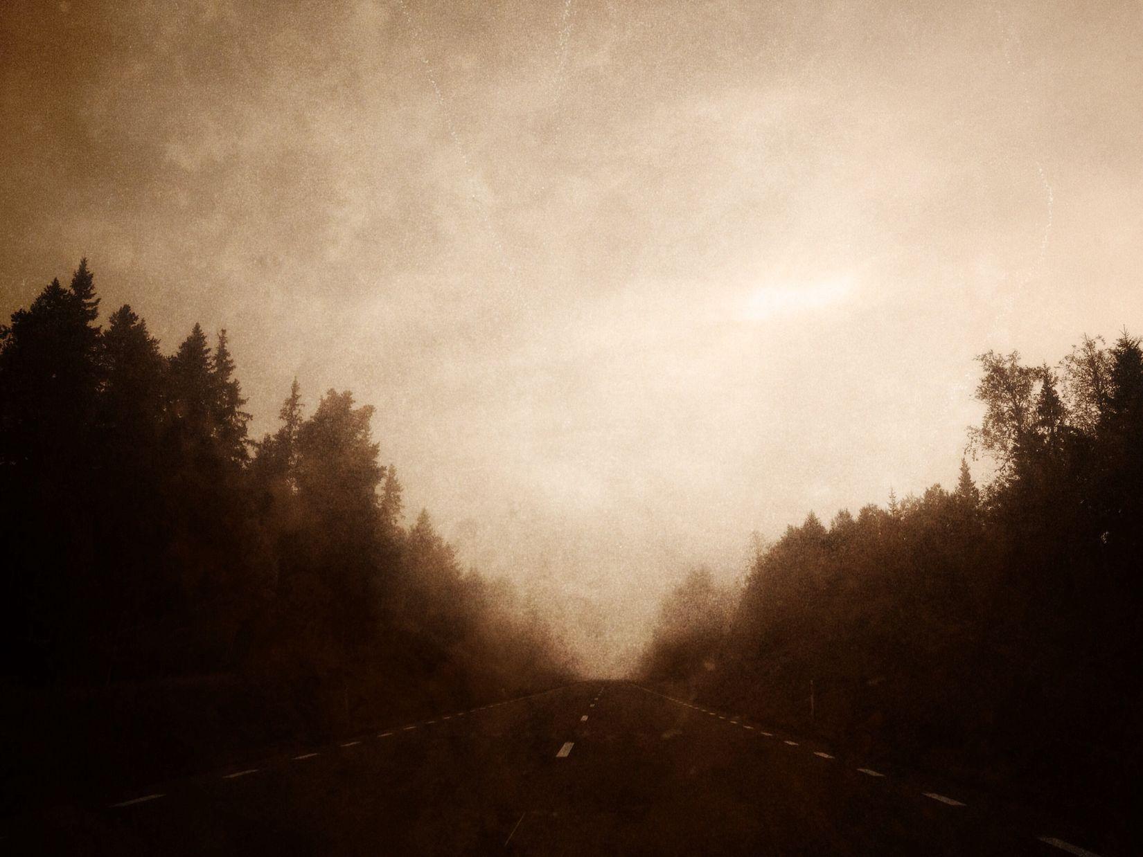 On quiet roads Road Impressionism Painterly Rainscapes