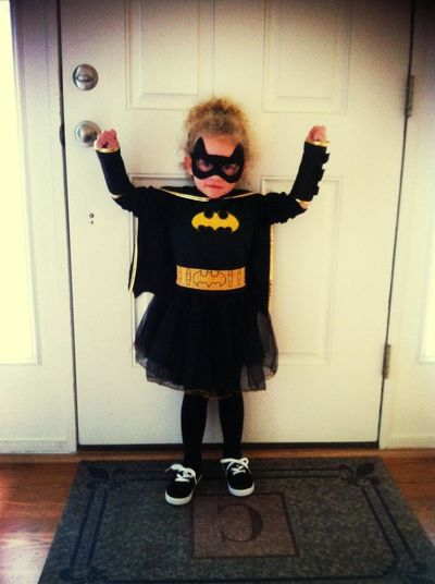 she wanted to be batgirl for halloween this year