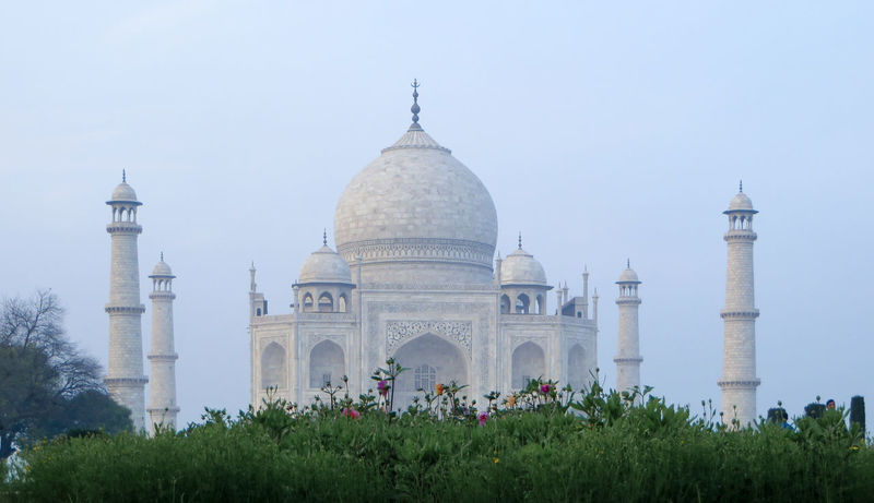 A view of the Taj Mahal in Agra, India. Architecture Cultures Day Dome History India No People Outdoors Sky Taj Mahal Travel Travel Destinations Tree