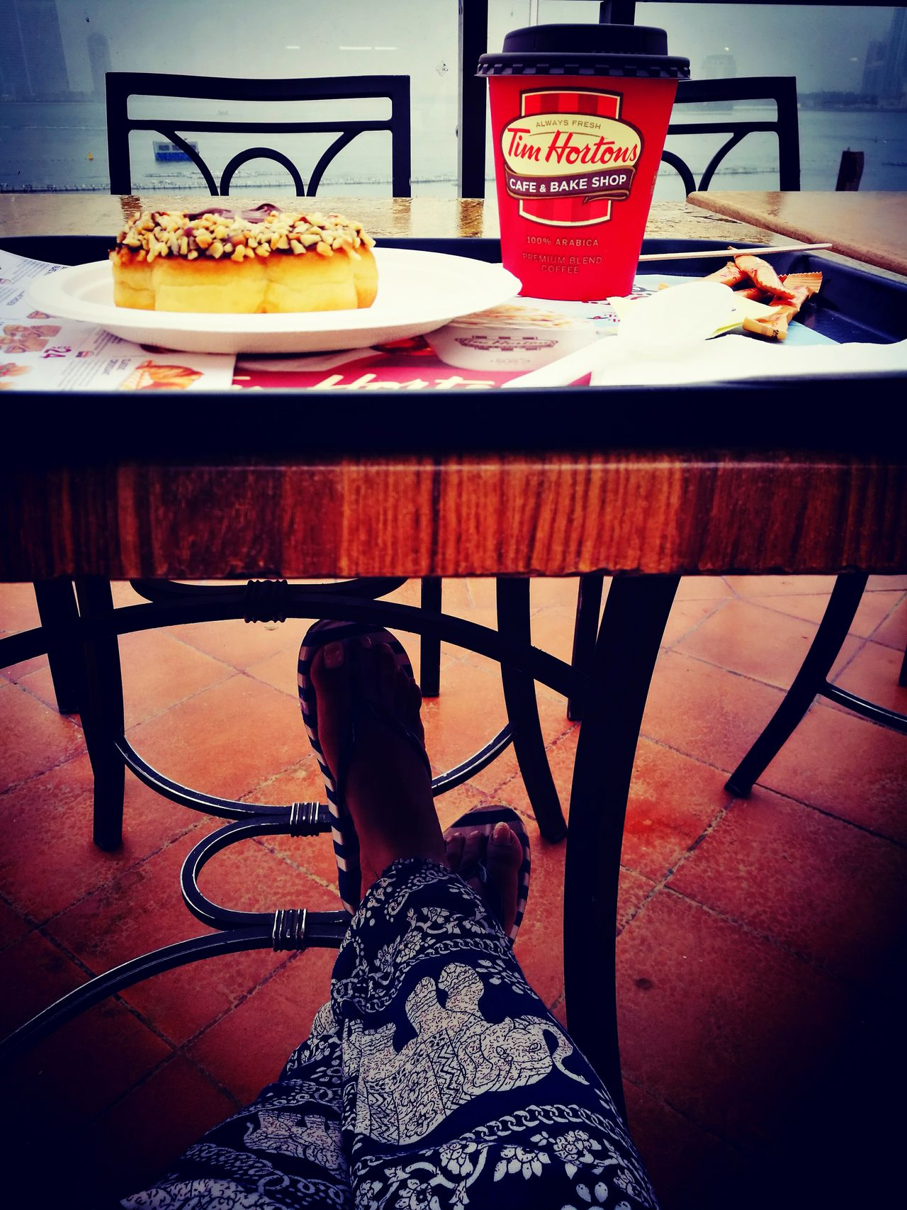 Drink Food And Drink One Person Timhortons Food Huawei P9 Leica TimepassPhotography Mobilephotography HuaweiP9 Happiness♥ No People Huaweiphotography Loveforphotography Beauty In Nature Scenics Cloud - Sky Outdoors Frech Vanilla