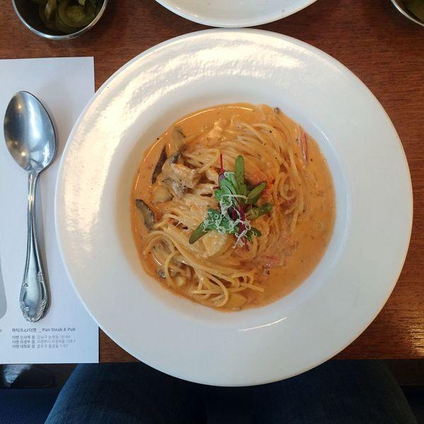 Food Lunch Pasta Cream Pasta