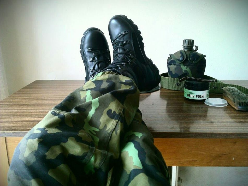 Greatings from my summer in Armytraining , need to have my combat boots always clean; Soldier Army Army Life Military Military Life Army Girl Combat Boots