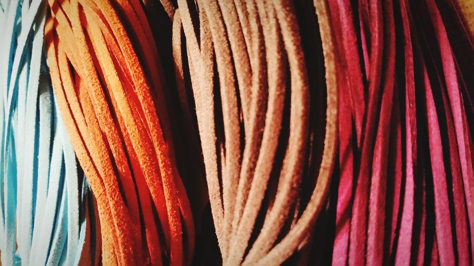 Handmade For You Multi Colored Textured  No People Backgrounds Variation Close-up Indoors  Craft Arts And Crafts Handmade Dreamcatcher Colors Suede Leather Suède Cord 3XSPUnity 3XSPhotographyUnity