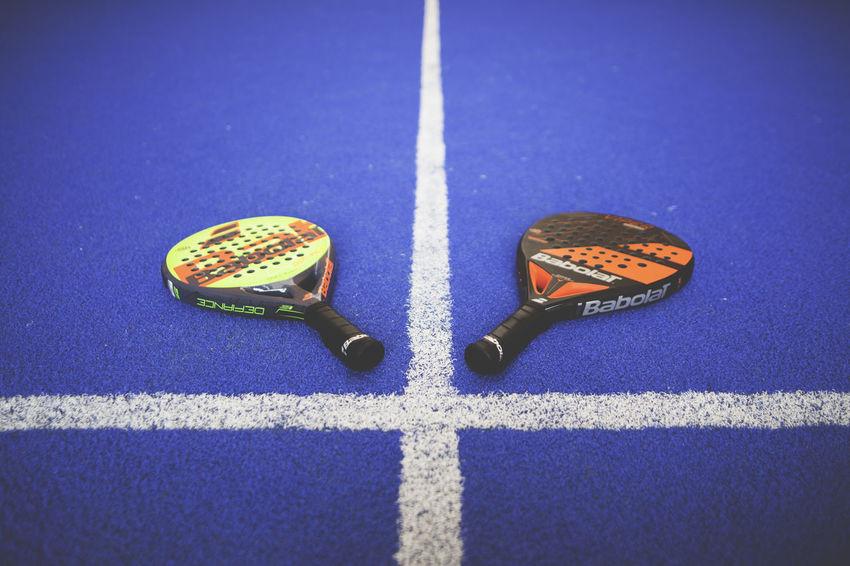 1vs1 2 Lines Blue Indoors  Pad Paddle Padel Racket White