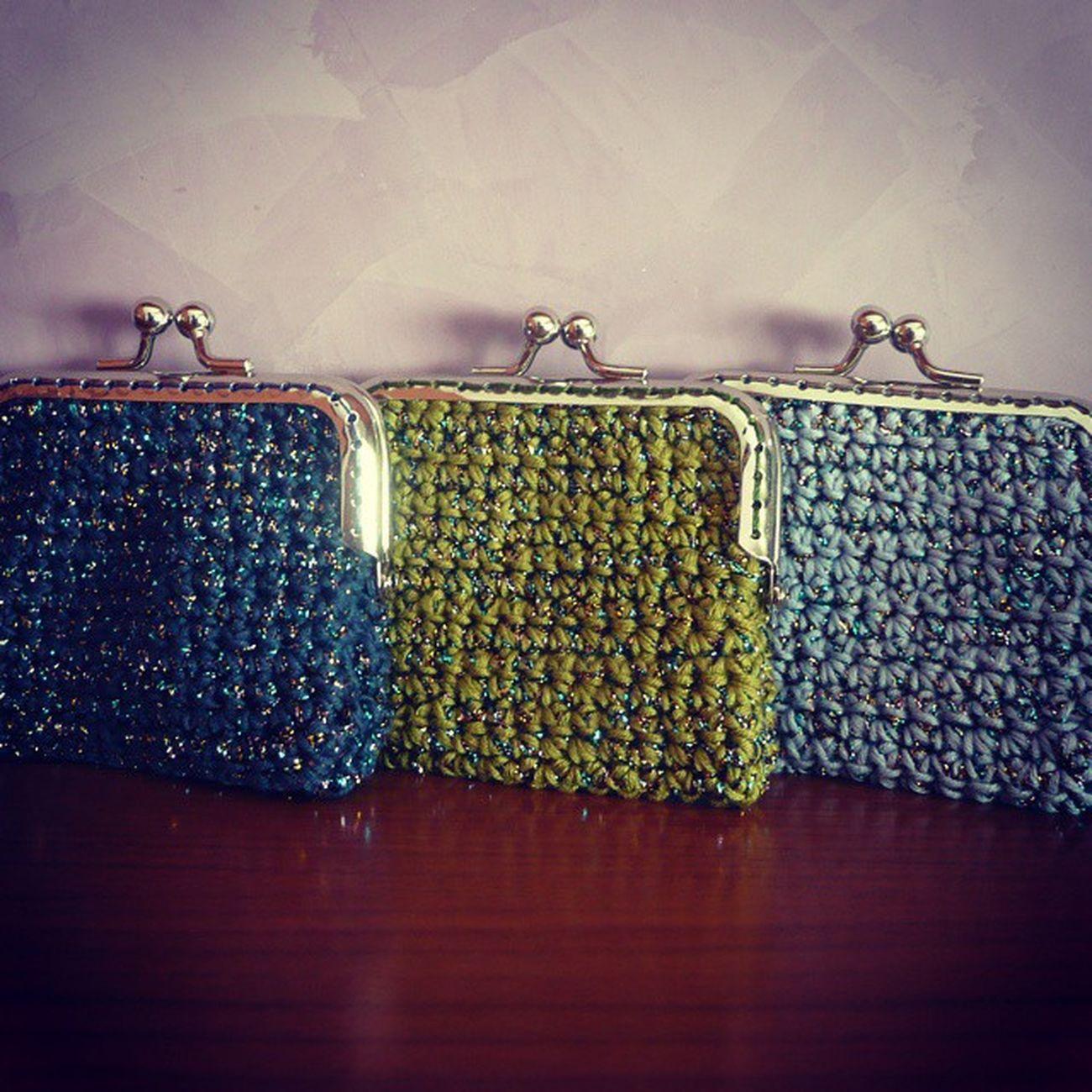 Yarn Handmade Coinpurse Monedero Crochetaddict Crochet Ganchillo Drops Safran