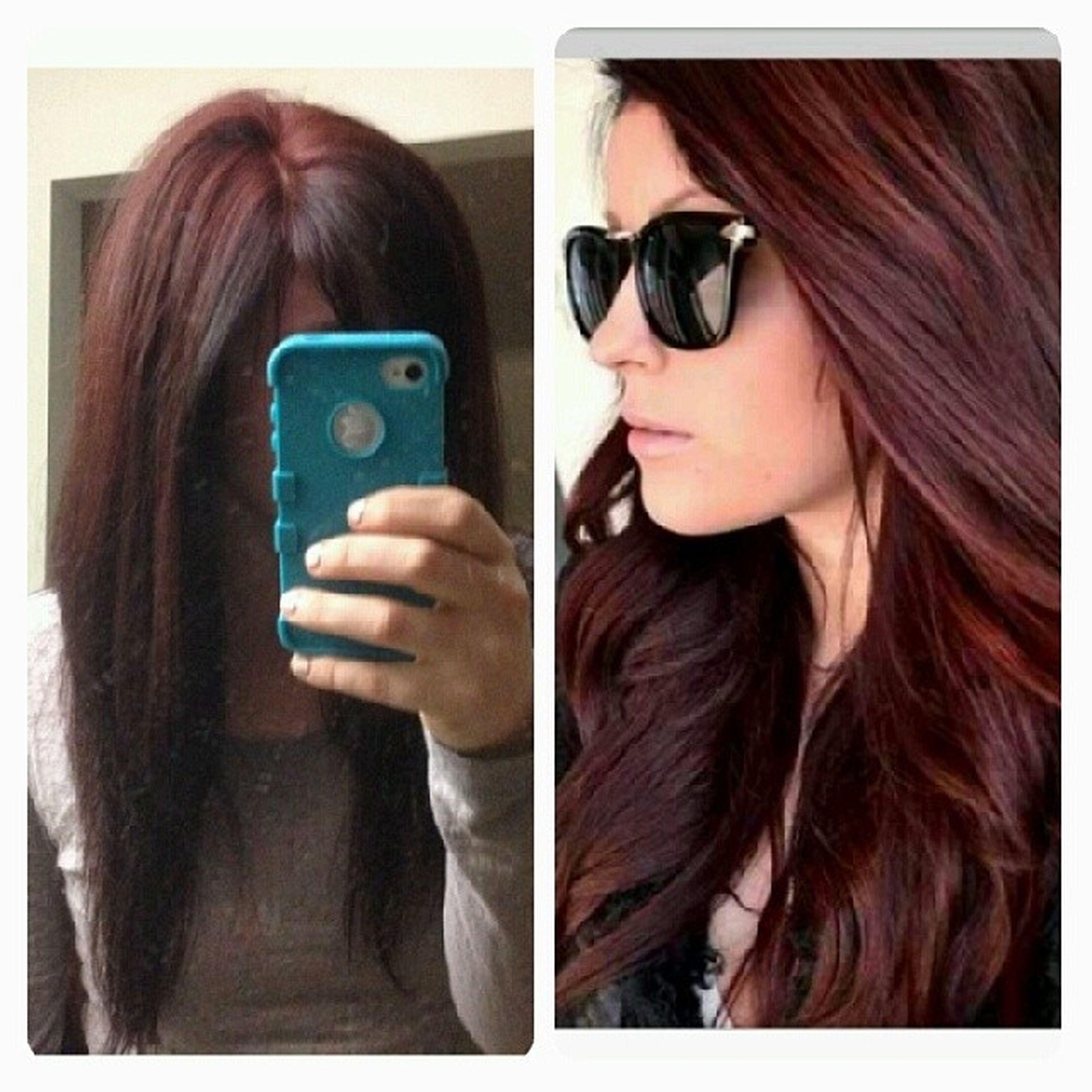 Another look along side her haircolor insperation Kenra Kenrareds 5RB 5R 4RR