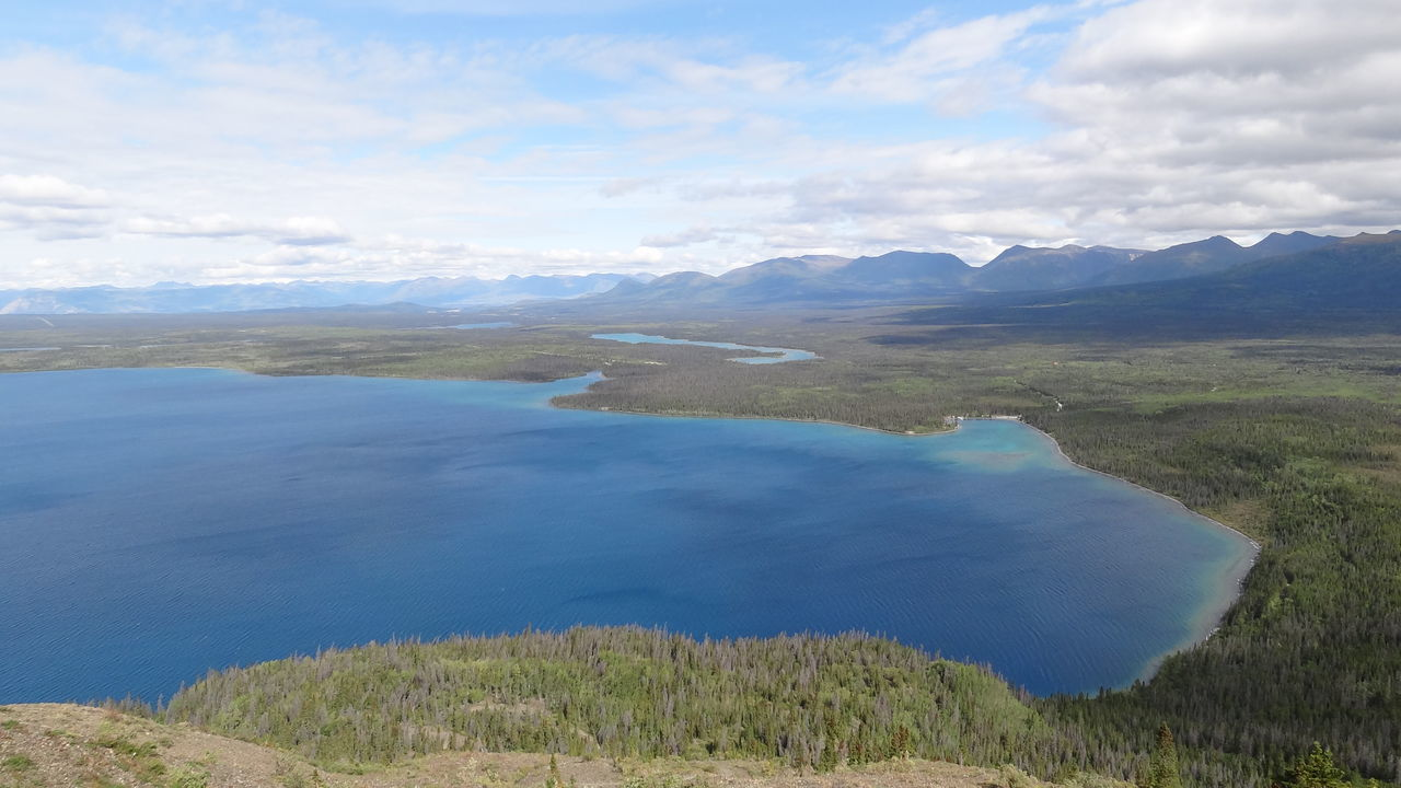 Beauty In Nature Canada Cloud - Sky Day Grass Idyllic Kathleen Lake King's Throne Kluane National Park & Reserve Lake View Landscape Mountain Mountains Nature No People Non-urban Scene Outdoors Scenics Sky Tranquil Scene Tranquility Water Yukon