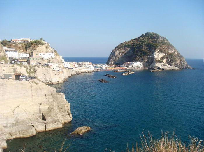 Sant'Angelo, Isola d`Ischia Architecture Beach Beauty In Nature Blue Building Exterior Built Structure Clear Sky Cliff Day High Angle View Horizon Over Water Ischia Island Italy Mountain Nature No People Outdoors Rock - Object Sant'angelo Scenics Sea Sky Tranquility Water