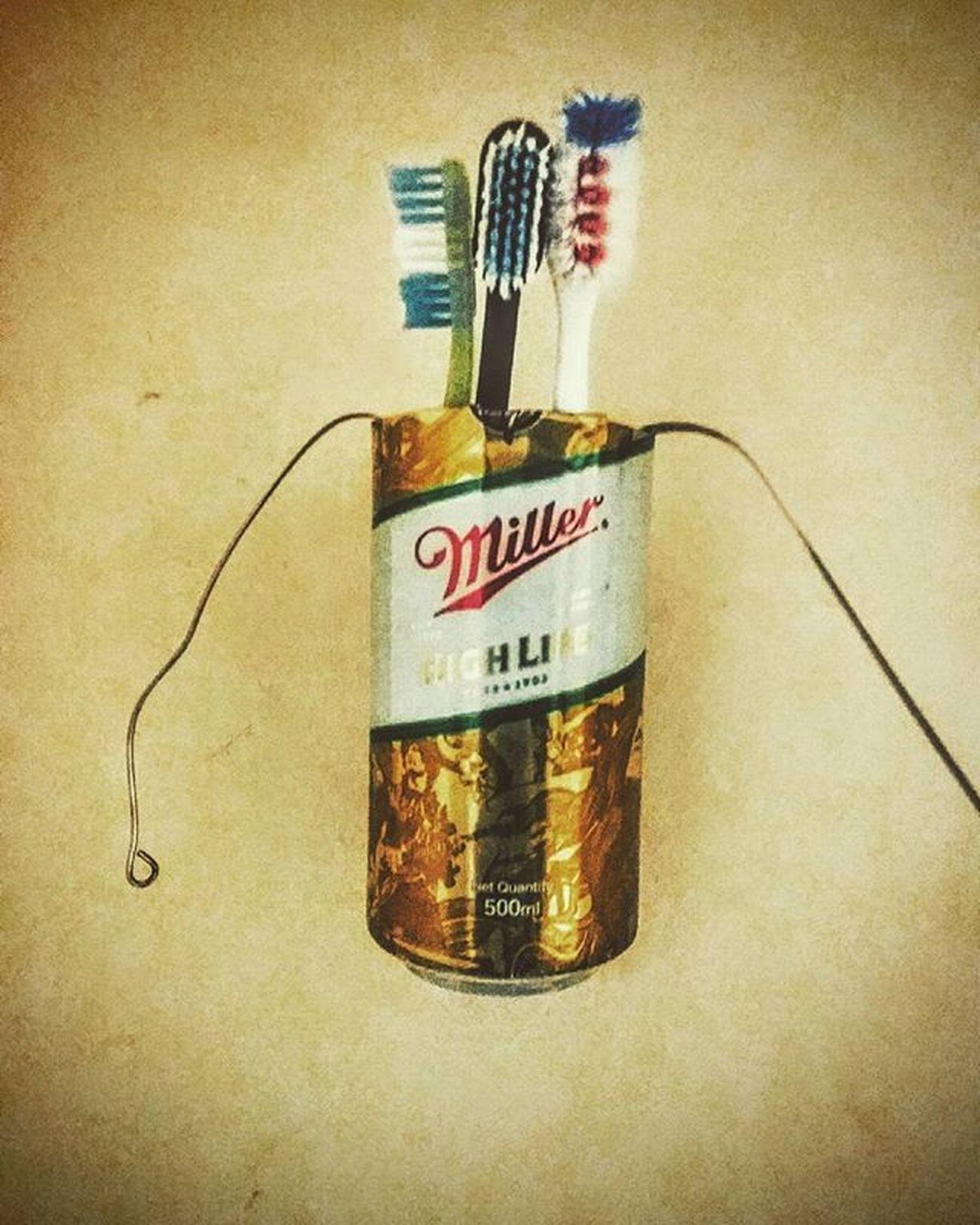 Royal brush case 😎😆 Jugad Savingmoney💰✌ Miller🍺 Motovational😜 Instadailyphoto Uses_as_glass_mug_ashtray_container etc etc 😆😆😉 Oh yeah..