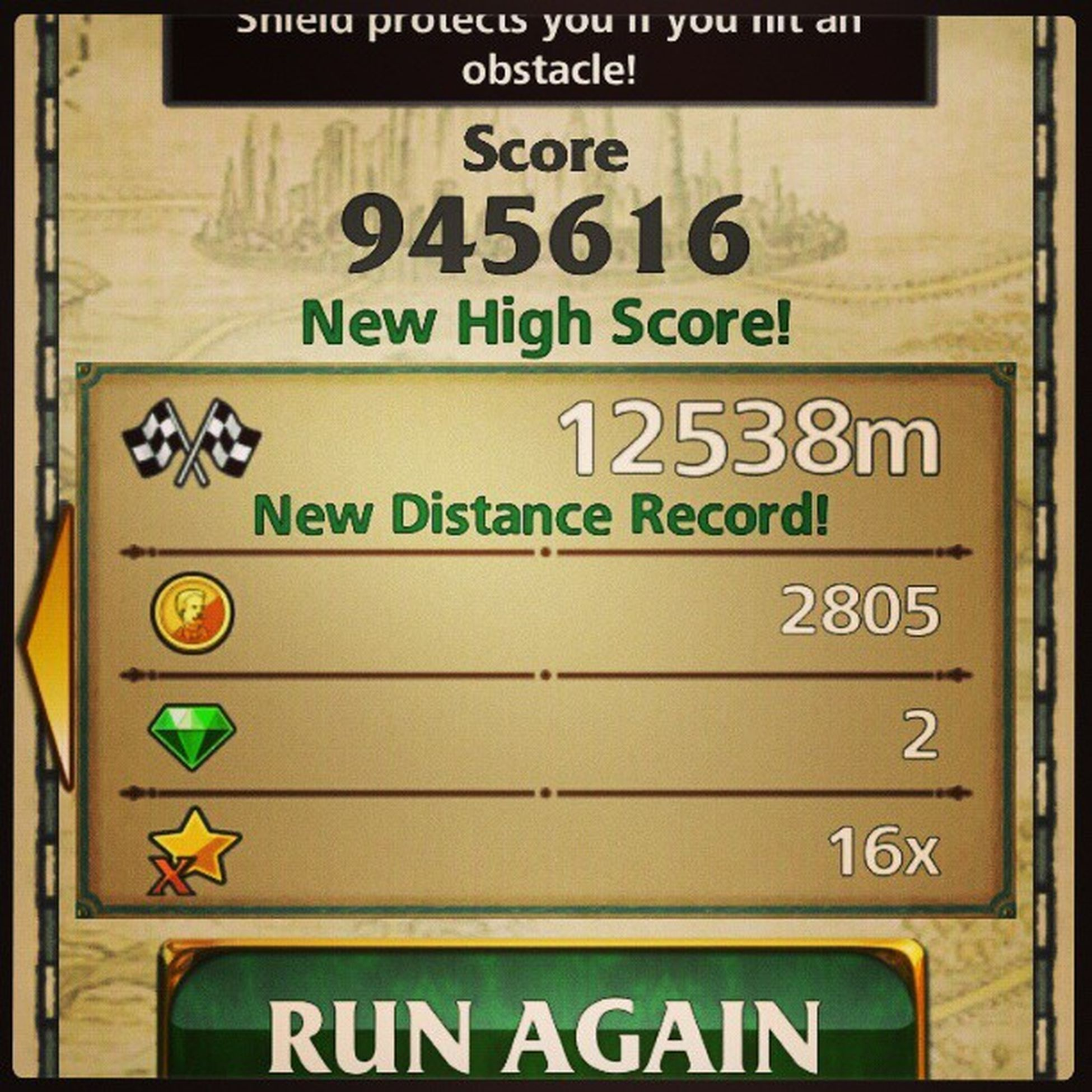 12k meter run pero wala pang 1m yung score??? huwat???? Templerunoz Templerun Ozthegreatandpowerful Disney android googleplay timeeater focus imangi