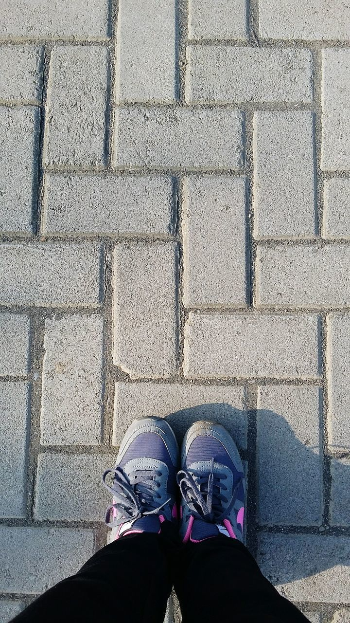shoe, real people, standing, low section, one person, human leg, personal perspective, high angle view, human body part, outdoors, day, men, lifestyles, people