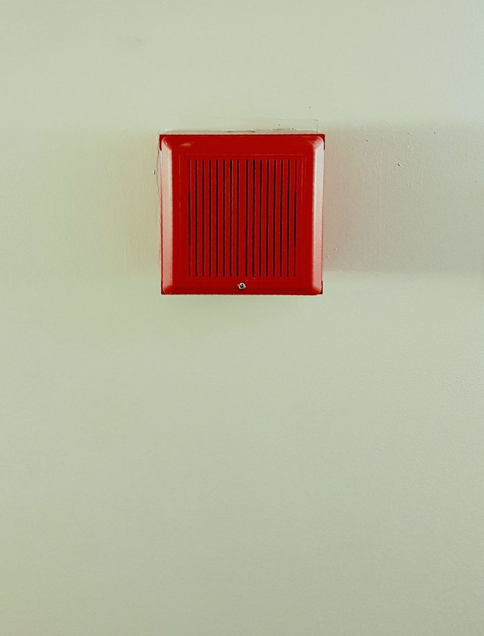 Alarm Minimalism Red Indoors  Hallway Pics Grey Green