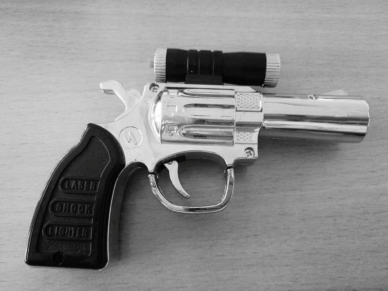 Toy gun Handgun Pistol Danger Gun Weapon Crime Table Black & Withe Toy