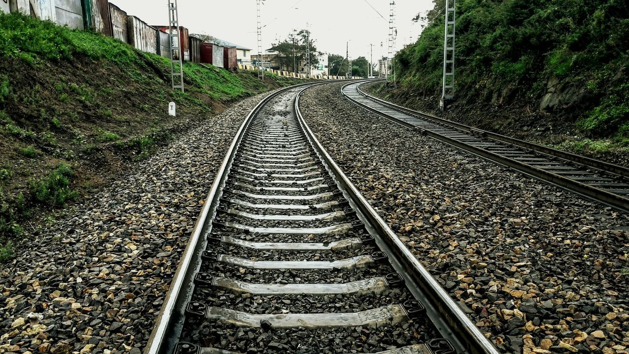 The Way Forward Railroad Track Tree Nature No People Plant Beauty In Nature