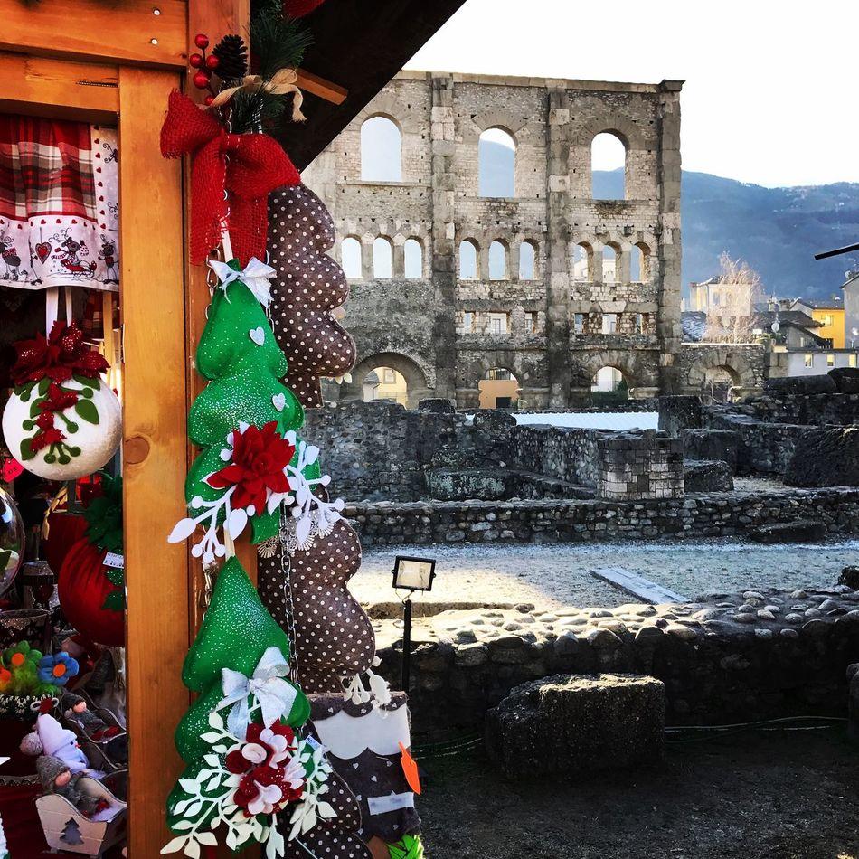 Christmas Christmas Tree City Aosta Valledaosta Mercatinidinatale Teatroromano Italia Italy Natale  Architecture