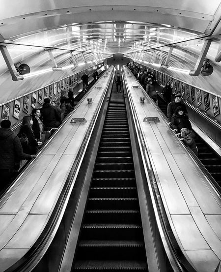 London Streetphotography Street Photography Blackandwhite Black And White Black & White Blackandwhite Photography People Watching People London Underground Underground Reflection People And Places People Photography Transportation City Commuting Escalators Architecture Architecture_collection Thoroughfare Capture The Moment IPhoneography The Street Photographer - 2017 EyeEm Awards The Street Photographer