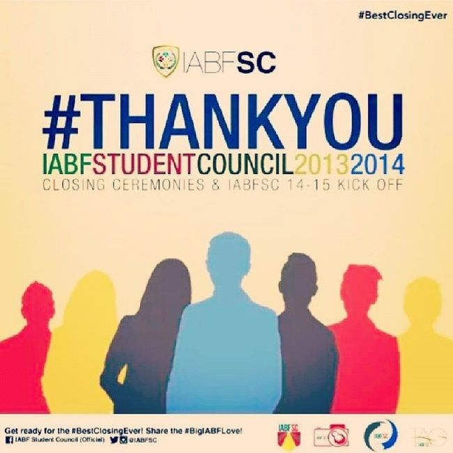 This would be my first and last to deliver speech in a ceremony. My four years in IABFSC wouldn't be this successful without the undying support of the IABF students to our beloved council. BestClosingEver IABFSCPresident1314 IABFSC BestOrg KuyaCliff Poster Credit to @renzdvr