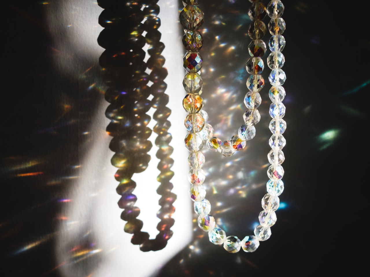 Bead Close-up Day Hanging Indoors  Jewellery Light And Shadow Multi Colored Necklace No People