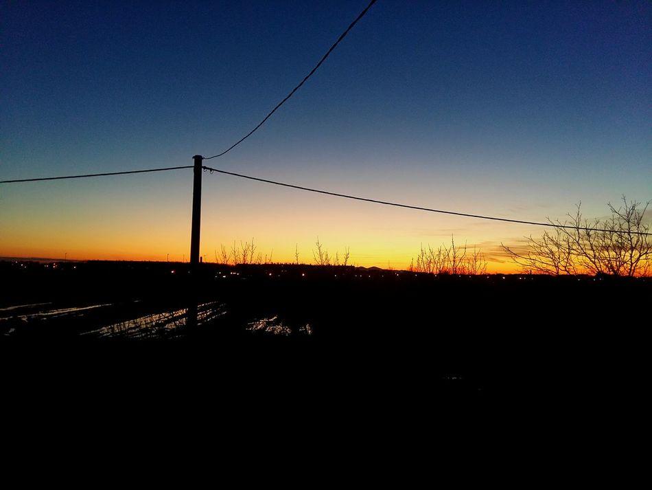 Spring Colorful Sunset Slavonski Brod