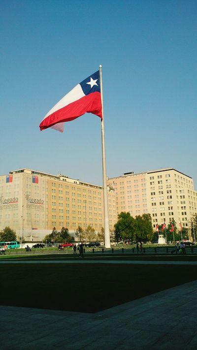 Bandera bicentenario. Cochitul Chile Santiago De Chile Flag