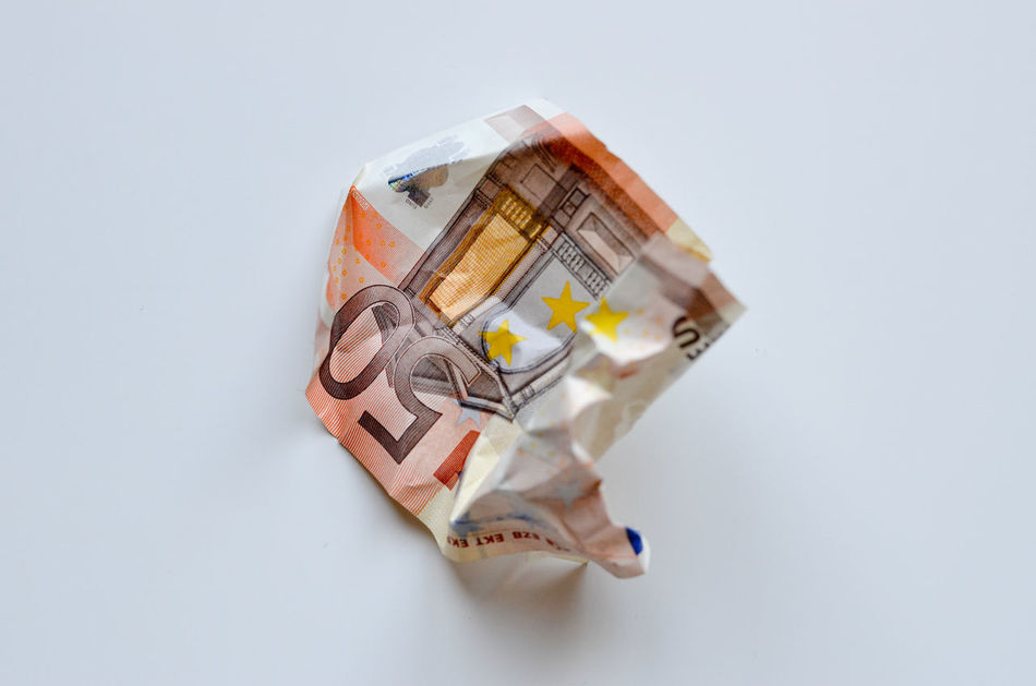 Beautiful stock photos of money, Crumpled, Currency, Day, Economy