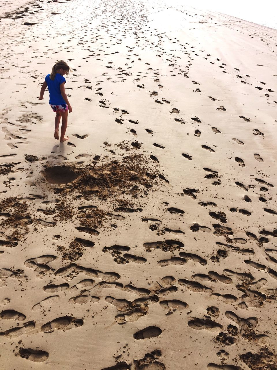 sand, beach, full length, footprint, one person, real people, outdoors, day, animal themes, nature, people
