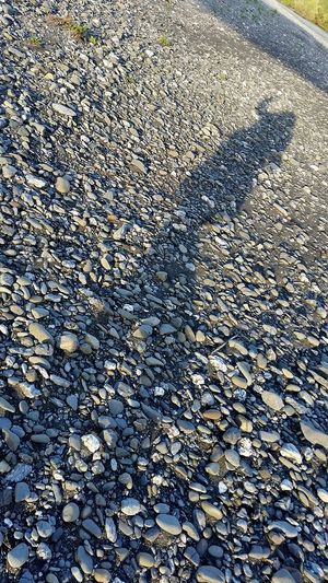 A shadow on a rocky river bank. Shadow Light And Shadow Riverside Riverbank Outdoors Nature Composition Outside
