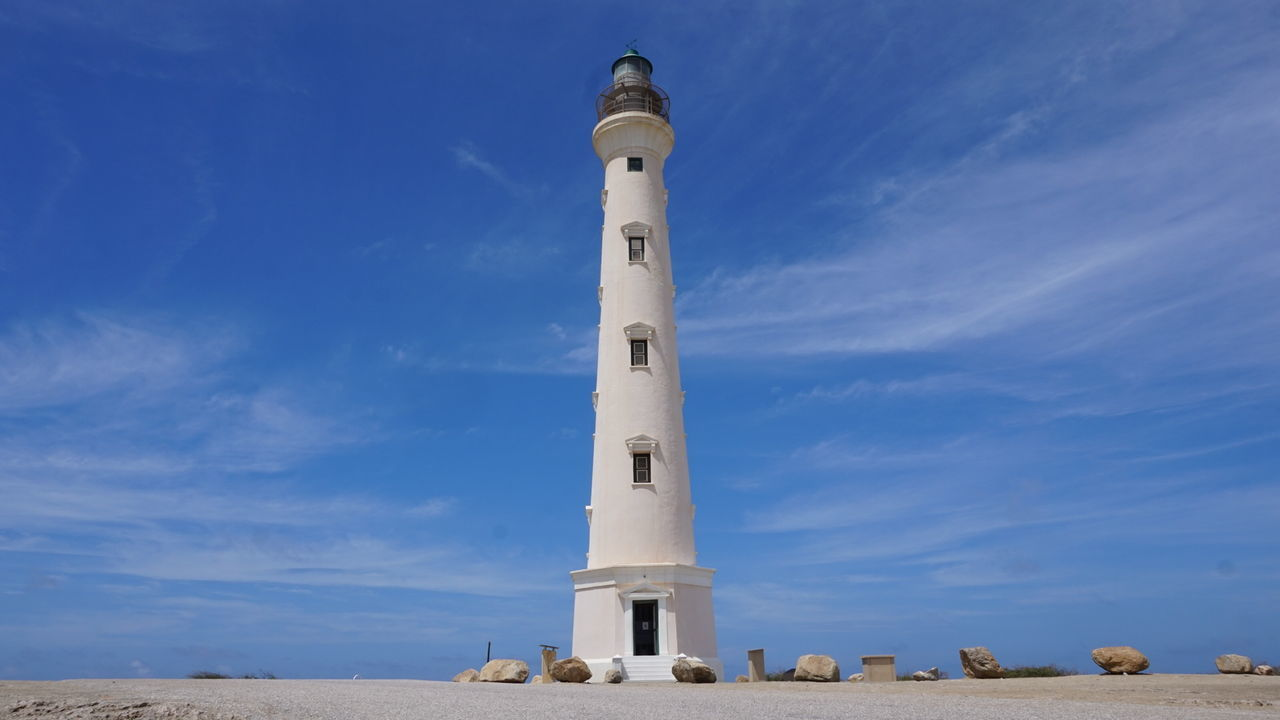 Lighthouse Aruba Lighthouse Day Sky Outdoors Blue Travel Destinations Scenics No People Vacations Nature Aruba One Happy Island