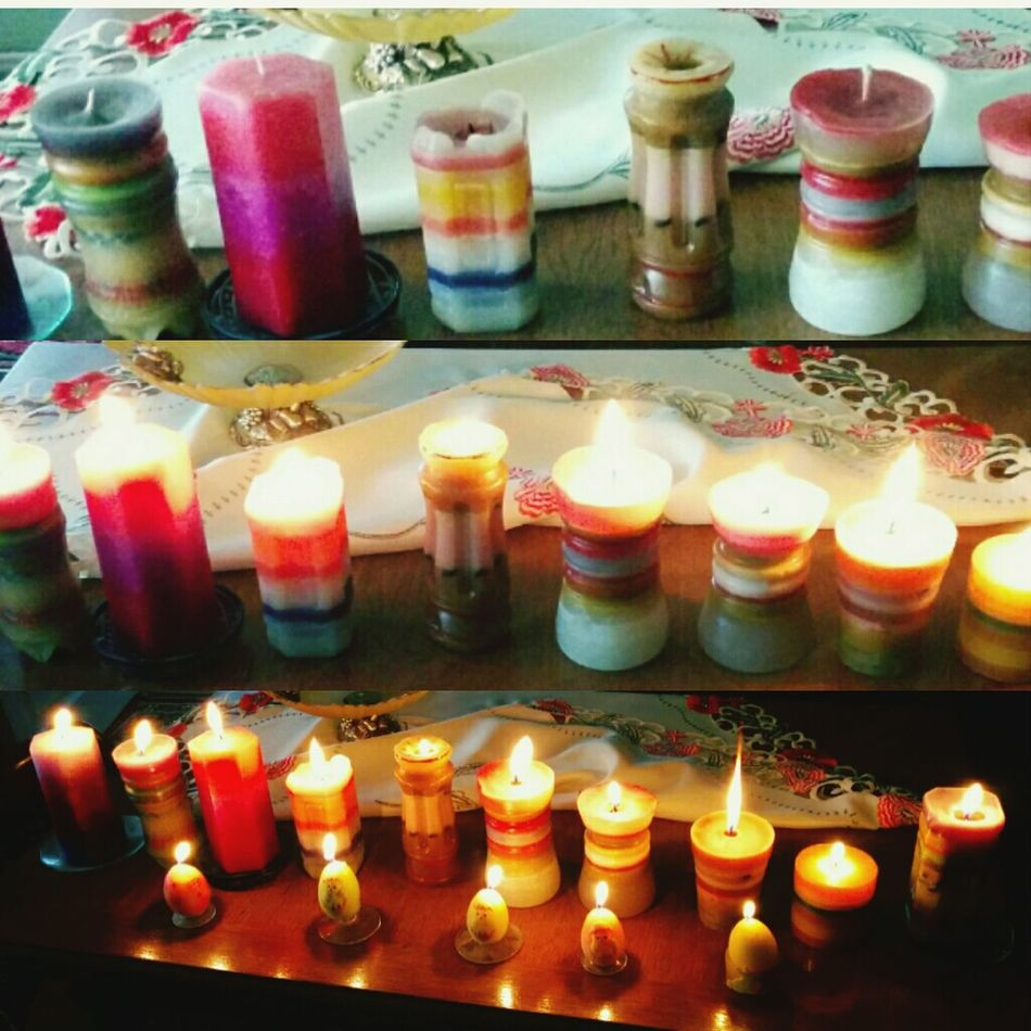 Home-made candles<3 how amazing is this?? Relaxing Quality Time Happy Time Burning Candles