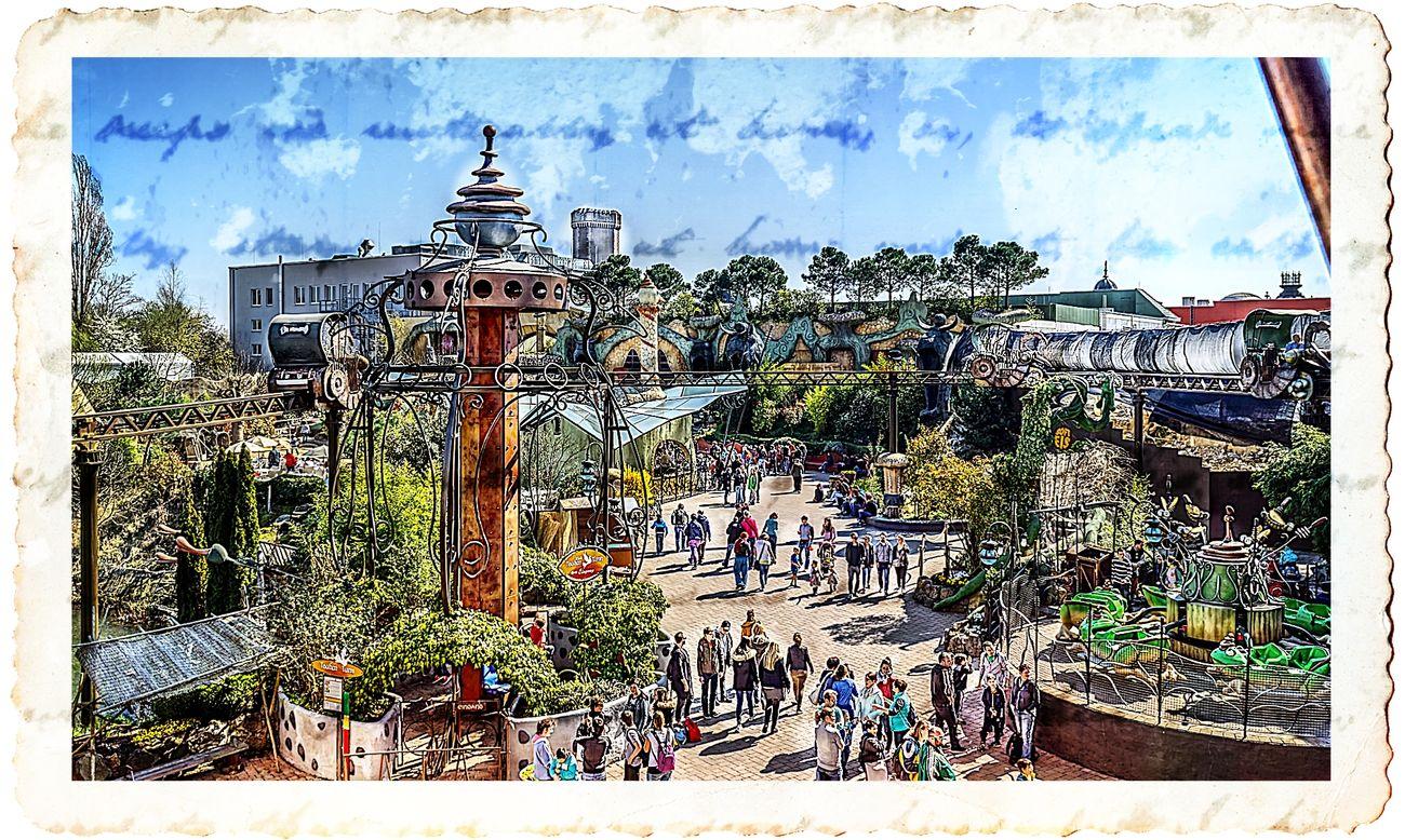 Amusement Park Amusement Park Ride Hdrphotography Outdoors People Phantasialand Sky Streetphotography Tree