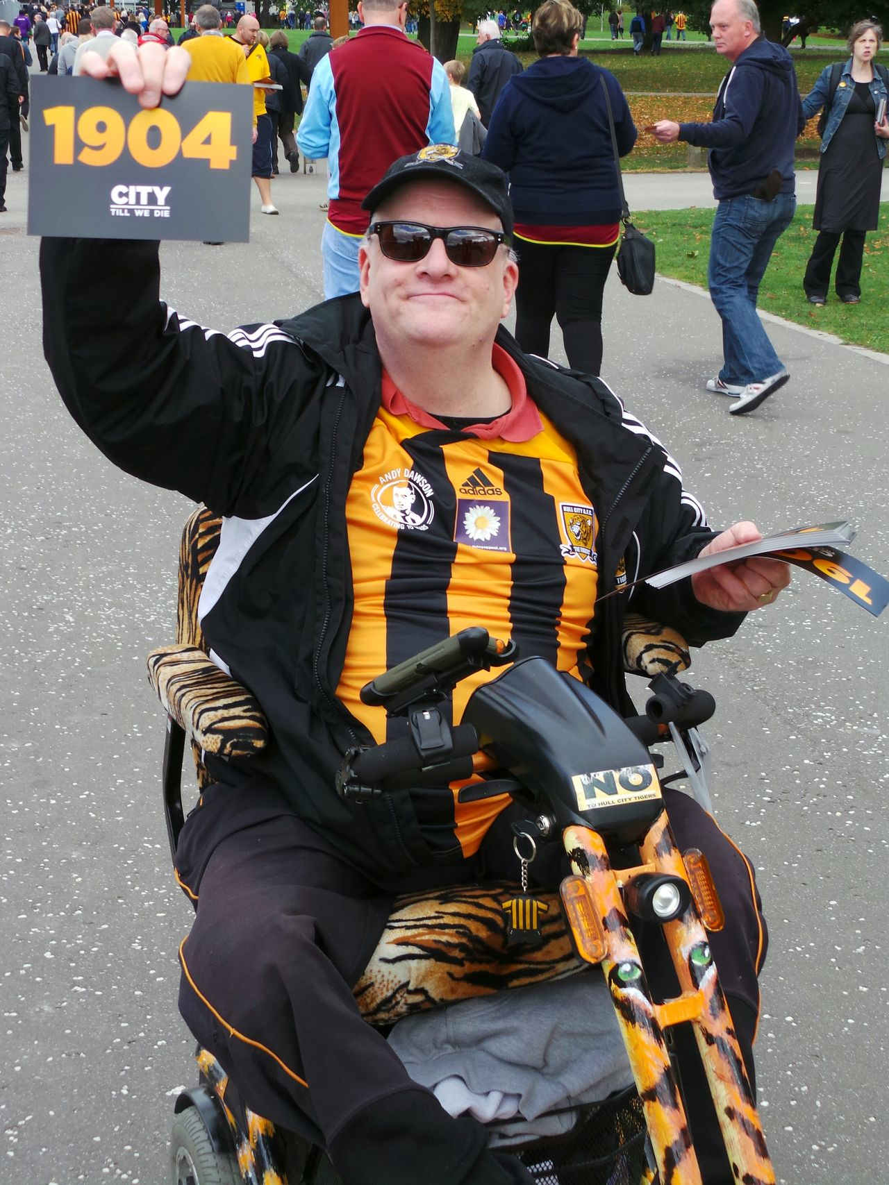 Hull Hull City Football Football Fan Protest No To Hull Tigers 1904 Kc Stadium Hull 2017 City Of Culture 2017