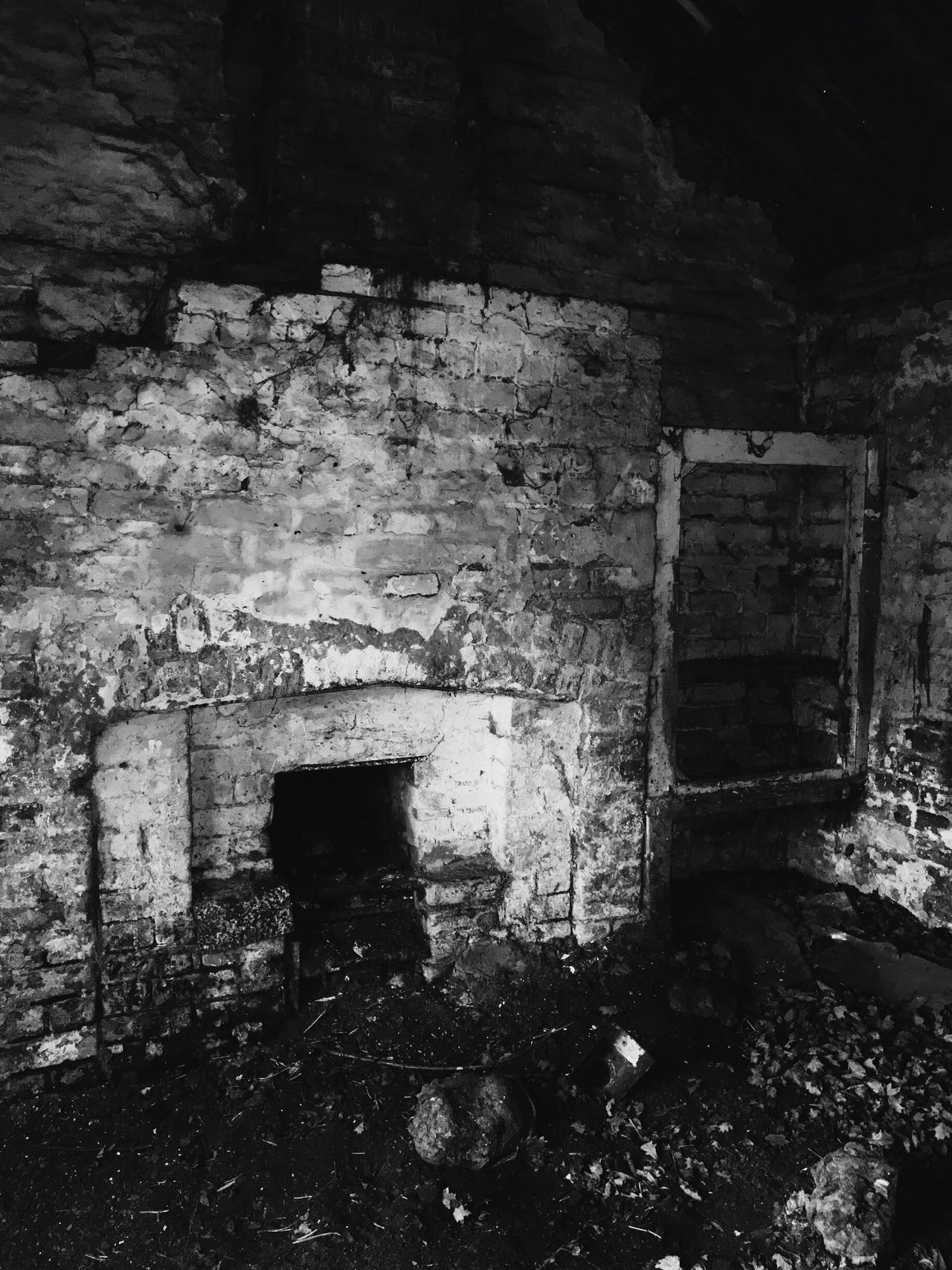 Crime Scene Deathlyhallows Mysterious Abandoned Damaged Brick Wall Obsolete No People Weathered Bad Condition Built Structure Architecture Building Exterior House Worn Out Discarded Day Outdoors Lostplaces Haunted House