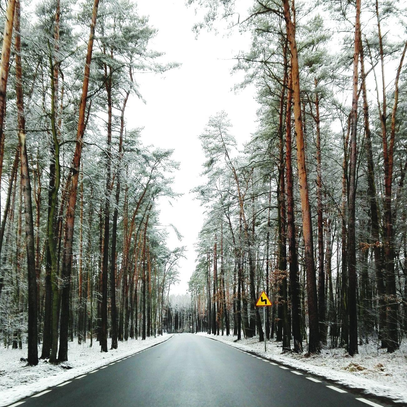 Bydgoszcz Poland VSCO Vscogood Vscocam Winter Snow Road