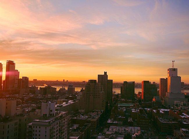 Sunset Over Hudson Newyorkcity Lovenewyork EyeEm Best Shots - Sunsets + Sunrise Sunset_collection Enjoying Life