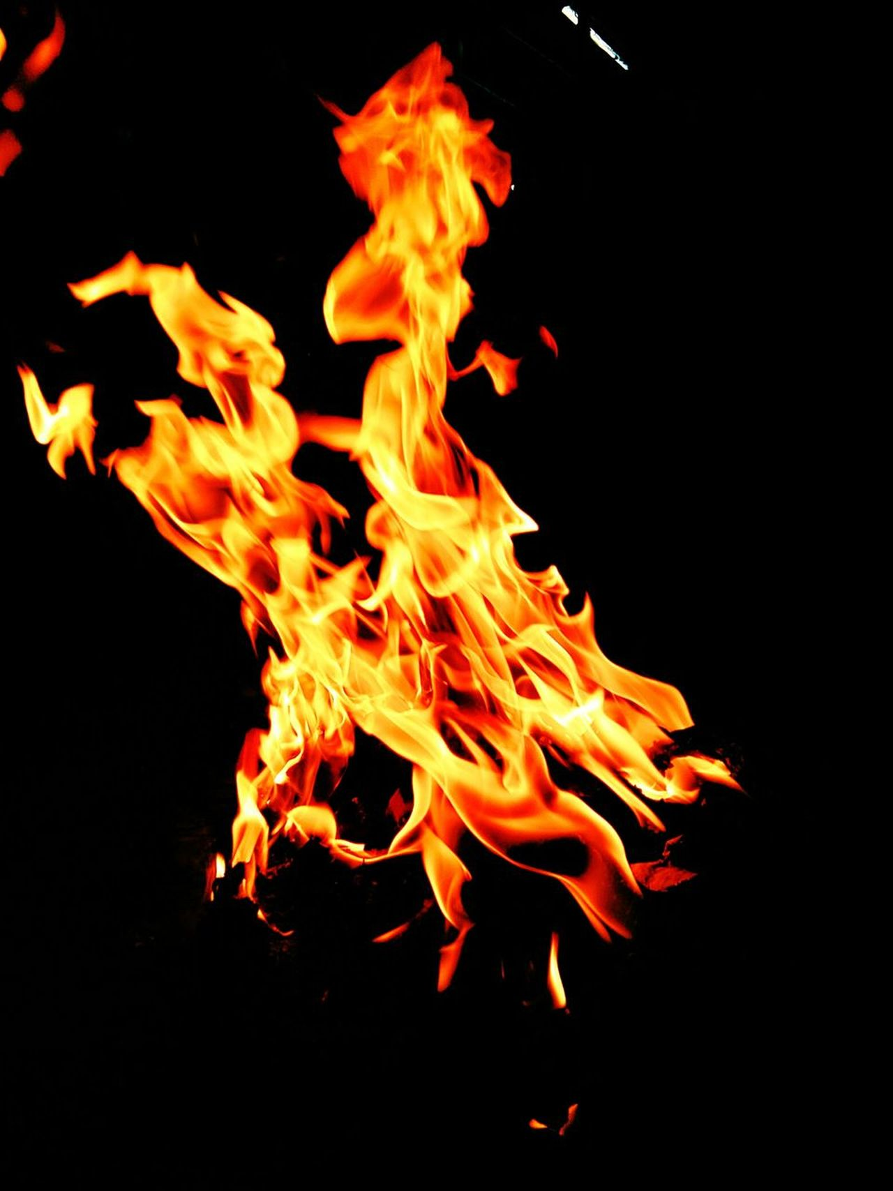 Fire - Natural Phenomenon Heat - Temperature Black Background Bonfire Close-up Night No People Burning Black Color Inferno Flame