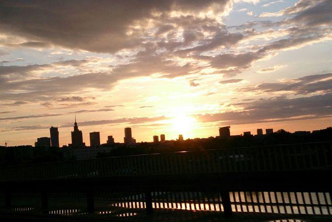 Sunset Bridge City Warsaw