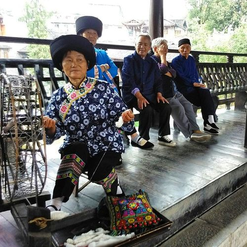 Furong Pezzi di vera Cina 芙蓉镇 土家族 湖南 中国 China Hunan Furong Tujia Etnia 记忆