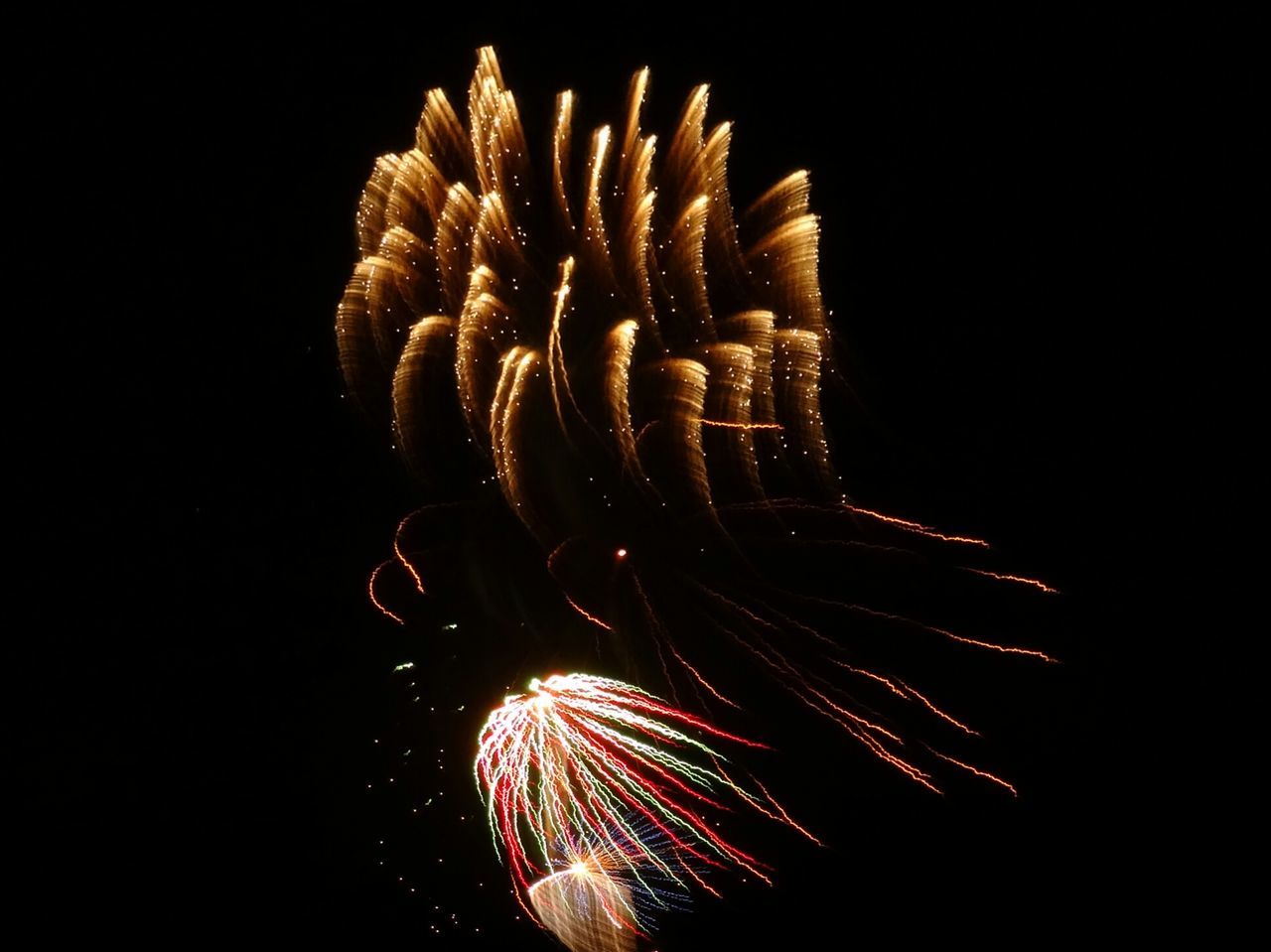 Glitch fireworks Tracers li Light Painting