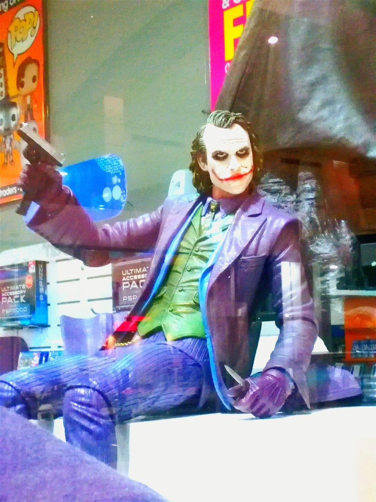 Wait Untill They Get A Load Of Me The Dark Knight The Joker Window Display Fictional People OpenEdit Window Shopping Window Displays Heath Ledger  Heath Ledger R.I.P.