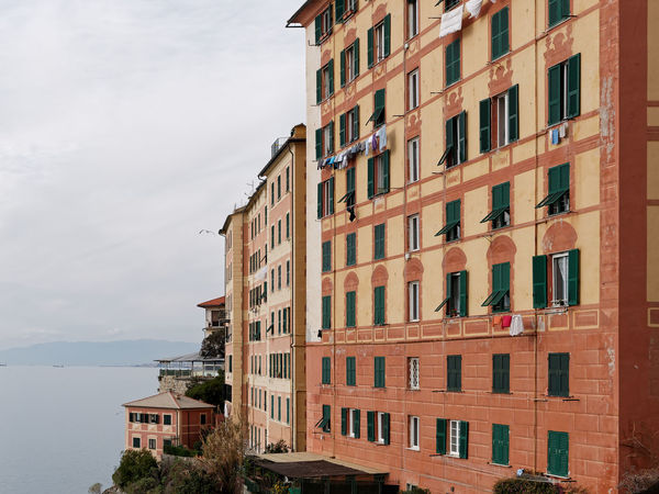 Camogli Italia Apartment Architecture Building Exterior Built Structure City Community Day House Low Angle View No People Outdoors Residential Building Sky Window