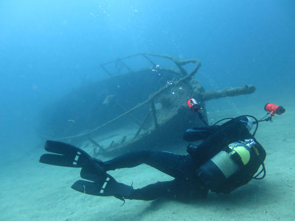 Blue Deep Sea Diver Photography Shipwreck Underground Underwater Underwater Photography Underwater World People Of The Oceans