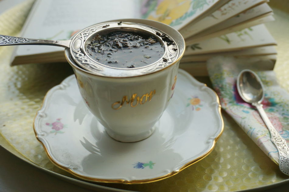 """A cup of tea for """" mor"""" mum... Book Close-up Cup Day Food And Drink Freshness Indoors  No People Old Fashioned Oldfashioned Plate Read Relax Saucer Table Tea Tea - Hot Drink Tea Time"""