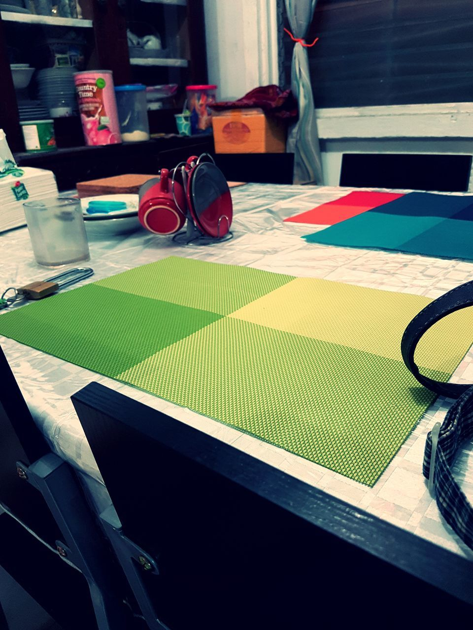 table, indoors, multi colored, paper, no people, day, close-up, color swatch