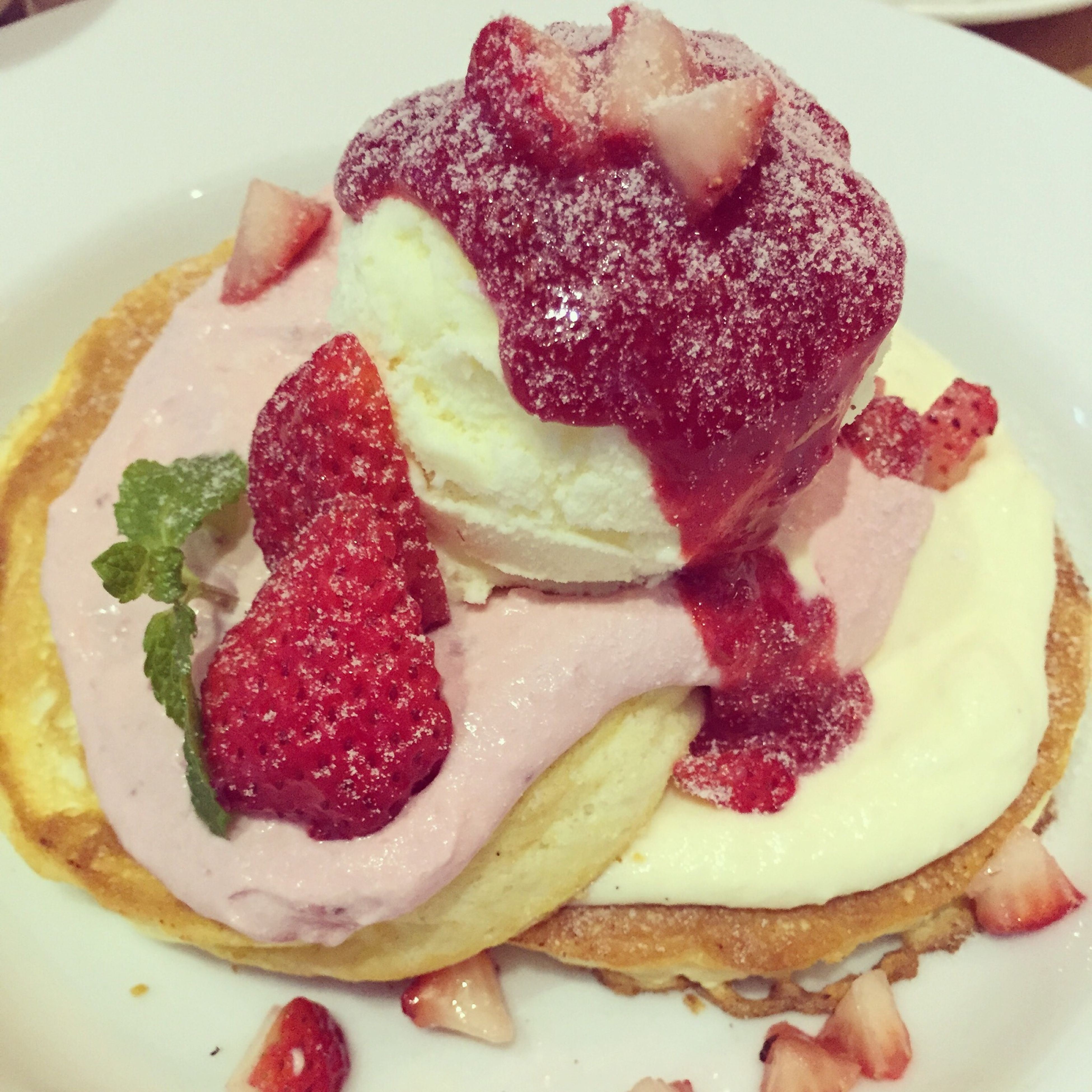 Strawberry Pancakes Japan Yummy♡