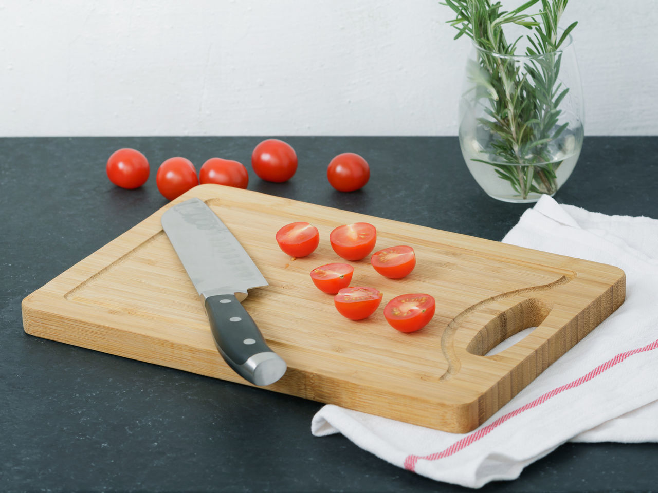 Chopping Board Close-up Cutting Board Day Food Food And Drink Freshness Healthy Eating High Angle View Indoors  Kitchen Knife No People Preparation  Table Tomato Vegetable Wood - Material